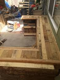 How To Build An Outdoor Kitchen Counter by Upcycled Pallet Outdoor Kitchen
