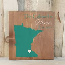 state shaped gifts minnesota primitive state outline family sign personalized state