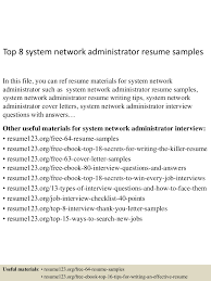 tsm administration sample resume 17 system administrator