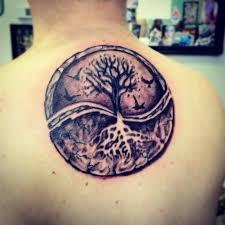 yin yang tree flying birds and tree yin yang on