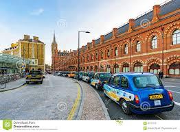 St Pancras Floor Plan Taxi Rank Outside Kings Cross St Pancras Station Editorial
