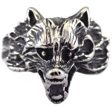 surgical steel band dire wolf ring surgical stainless steel band