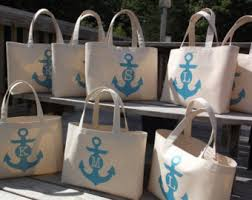 personalized wedding welcome bags set of 8 wedding bag nautical anchor monogram