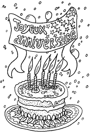 24 dessins de coloriage Joyeux Anniversaire à imprimer