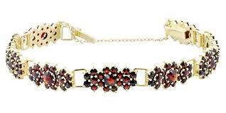 antique garnet bracelet images Antique style bohemian garnet cluster link victorian bracelet jpg
