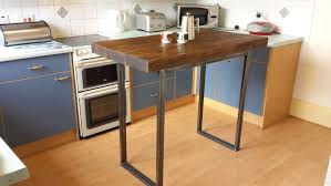 Oak Breakfast Bar Table Kitchen Rolling Breakfast Bar Island With Seating Height And