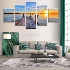 Home Decor Wholesale Dropshippers Modern Seascape Painting Wholesale Canvas Prints Dropship