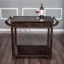 kitchen island cart wine rack