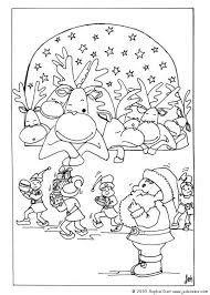 santa and reindeer coloring pages printable many interesting cliparts
