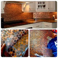 fascinating penny tile backsplash diy 133 endearing enchanting 19