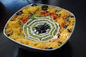 spooky spider u0027s nest 7 layer plus dip