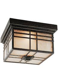 Craftsman Style Outdoor Lighting by Hillcrest Flush Mount Ceiling Light In Imperial Bronze House Of