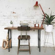 reclaimed wood writing desk luxury offices beautifully reclaimed wooden desks
