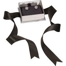 grey ribbon steel grey earring box with ribbon eds box supply co