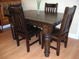 rustic kitchen table and chairs rustic pine dining table and chair collaborate decors best