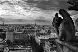 photographs of paris paris my iconic view gargoyle overlooking the city of pa flickr