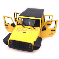 jeep rubicon yellow rc 1 10 scale 313mm wheelbase hard plastic jk jeep wrangler