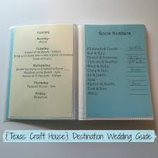 Destination Wedding Itinerary Diy Destination Wedding Guide For Guests Texas Craft House