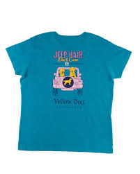 turquoise jeep yellow dog classic short sleeve t shirt nantucket red yellow dog
