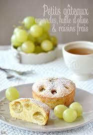 envie de cuisiner petits gâteaux aux amandes huile d olive raisins frais les