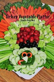 simply gourmet turkey inspired vegetable platter