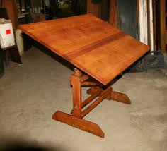 Vintage Wooden Drafting Table with Modern Vintage Anco Bilt Drafting Table Appraisal Instappraisal