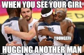 Kevin Love Meme - overly attached boyfriend imgflip
