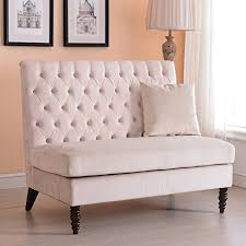 Modern Loveseat Sofa Belleze Beige Velvet Modern Loveseat Bench Sofa Tufted