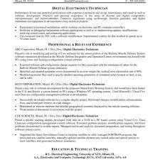 Radiologic Technologist Resume Examples Electronics Technician Description Direct Care Job Resume