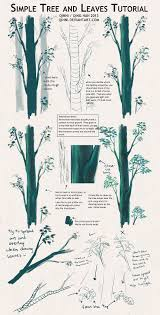 tree and leaves tutorial tips by qinni on deviantart