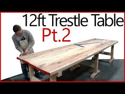 making a trestle table part 2 making a table top oak trestle table woodworking series