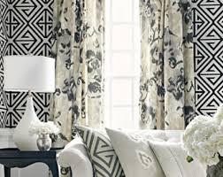 Grey Beige Curtains Gray Beige Curtains Etsy