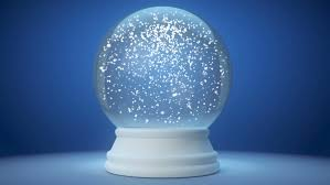 snowglobe animation on a blue gradient background stock footage