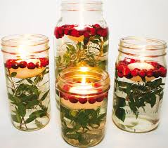 Mason Jar Candle Ideas An Easy D I Y Centerpiece Fill A Mason Jar With Water Greenery