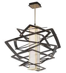 Contemporary Pendant Lighting Fixtures Corbett 186 43 Tantrum Contemporary Bronze Finish 30 Led