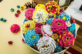 how to diy pine cone flowers home u0026 family hallmark channel