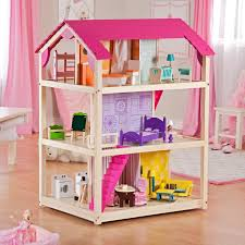 Kids Room Design For Two Kids Furniture Dollhouse Bookcase With Cool Shape For Kids Room