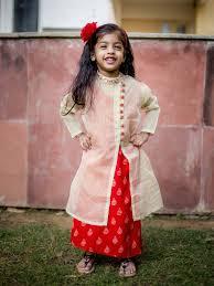 buy designer block printed indo western dresses for baby girls