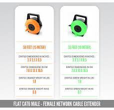 amazon com retractable ethernet cable 50 feet 15 meter cat6
