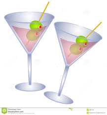 pink martini 2 pink martini glasses olives stock photography image 2887362