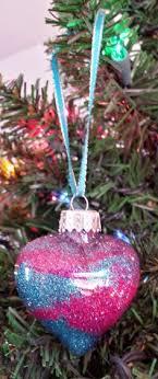 personalized american sign language glitter ornaments american