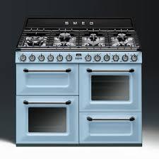 piano cuisine smeg smeg aesthetic dual fuel 110cm range cooker tr4110az