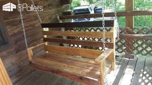 easy diy tutorial build u0026 install one pallet bench swings u2022 1001