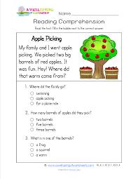 2nd Reading Comprehension Worksheets Kindergarten Reading Comprehension Worksheets There Are 18 Sight