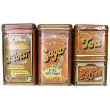 metal canisters kitchen cheinco vintage tin canister set flour sugar coffee tea retro