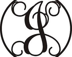 monogram letter s monogram letters etsy