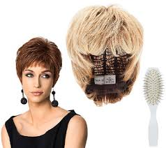 hair u wear hairdo by hairuwear textured cut wig brush page 1 qvc