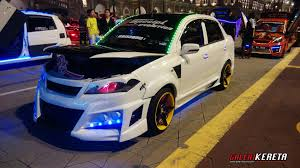 cool modded cars proton saga blm flx modified part 1 galeri kereta