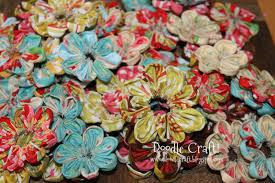doodlecraft fabric flower headbands