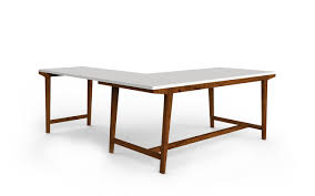 Modern Desk by Modern Private Desk With Return U2013 West Elm Workspace